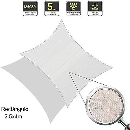 2.5x4m Sand Sunnylaxx Rechteck 2.5x4m Sonnensegel Sonnenschutz Gart