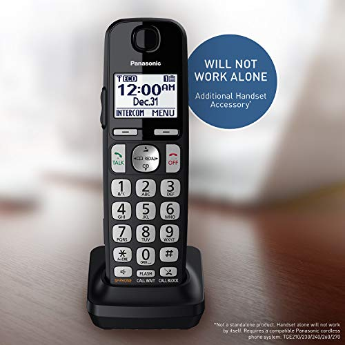 PANASONIC Accessory Cordless Handset (KX-TGEA40B1) for Panasonic KX-TGE433B/KX-TGE445B Telephone Models