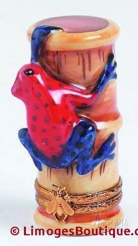 Strawberry Poison Dart Frog - French Limoges Boxes - Porcelain Figurines Collectible Gifts ()