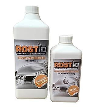 Rostio kit eliminador de óxido para depósitos: Botella de 1 litro de eliminador de óxido