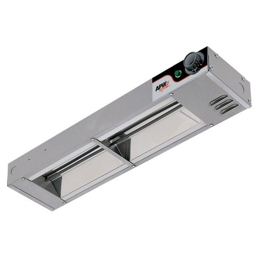APW Wyott Single Standard Toggle Control Calrod Overhead Warmer - Low Wattage, 2.5 x 18.25 x 6 inch -- 1 each.
