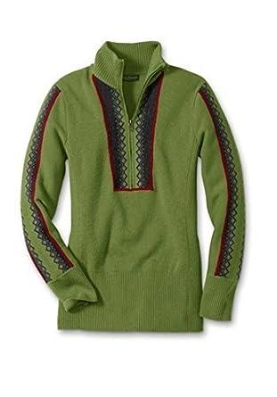 ec0fa98155 Eddie Bauer Pullover mit Stehkragen Damen Grün Gr. M: Amazon.de: Bekleidung