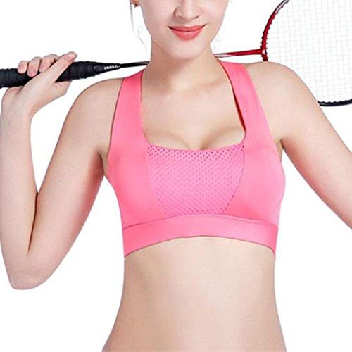 Gazechimp Sujetador de Mujer de Deportes Fitness Salud Yoga Accesorios de Chica Ropa Interior rosado