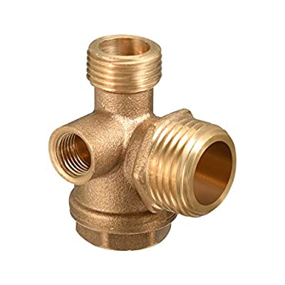 uxcell 1/8PT 3/8PT 1/2PT Thread Brass Check Valve for Air Compressor