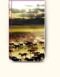 iPhone 6 Plus Case 5.5 Inches Flocks of Horses Migrating - Hard Back Plastic Case OOFIT Authentic