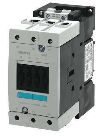 Siemens 3RT10 44-1AP60 Motor Contactor, 3 Poles, Screw Terminals, S3 Frame Size, 240V at 60Hz and 220V at 50Hz AC Coil Voltage Voltage