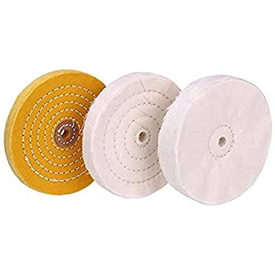 6 inch Buffing Polishing wheel 1/2 Inch Arbor Hole for Bench Grinder Buffer Tool Coarse Medium Soft 3pcs: Home Improvement