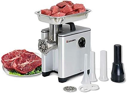 Kitchener - Pesado de Grado Comercial eléctrico de Acero Inoxidable de Alta HP trituradora de Carne - # 8 240 Libras/Hora
