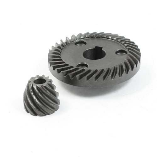 uxcell Repair Part Spiral Bevel Gear Pinion Set for Matika 9553 Angle Grinder -