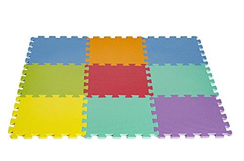 9 tile Multi Color Puzzle Playmat HemingWeigh