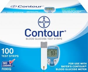 TEST STRIPS BLOOD GLUCOSEUSE W/9545 METERS 100/BX Bayer Healthcare LLC, Diabetes Care