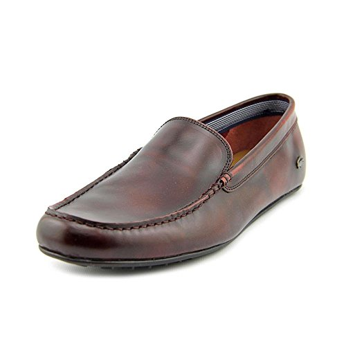 Lacoste Men's Bonand Slip-On Loafer (8.5 D(M) US, Dark Burgandy)