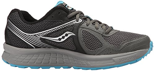 Saucony Lace Running Top Cohesion Fabric Blue Grey Low Sneaker Womens up Black Grid rYqHwrB