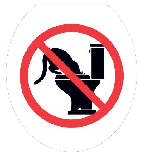 Toilet Tattoos Toilet Seat  Cover Decal,No Kitty Bowl, Si...