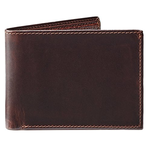 Moore and Giles BI-FOLD Wallet Brompton - Brown Leather by Moore and Giles