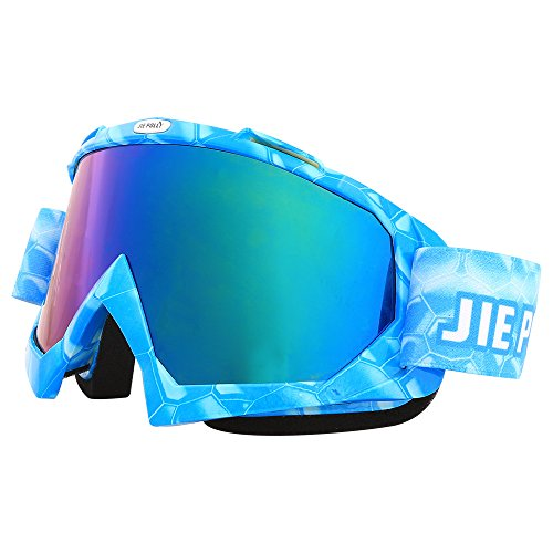 YHLU Motorcycle Motocross Goggles Racing Goggles Dirt Bike Mx Goggle Glasses and Ski Snowborading(10 Color),2