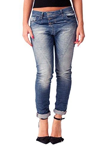 Denim Please bleu P78 de jeans denim femme baggy q1qvwfz