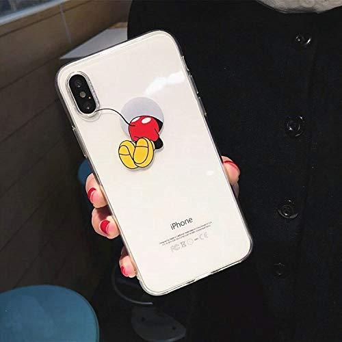 Maxlight Funny Mickey Mouse Feet Butt Soft Clear TPU Case for iPhone X 7 8 Plus Cartoon Cute Phone Cases for iPhone Xs MAX XR Cover (Style1, for iPhone 7 8) (Iphone 4s Mickey Mouse Case)