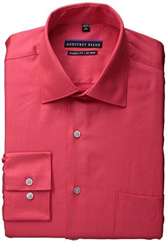 """UPC 781910329800, Geoffrey Beene Men's Classic Fit Non-Iron Sateen Dress Shirt, Fire, 15.5"""" Neck 34""""-35"""" Sleeve"""