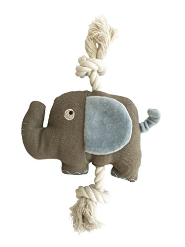 Simply Fido 23857 Basic Little Ellie Elephant Rope Toy, Blue/Brown, Medium