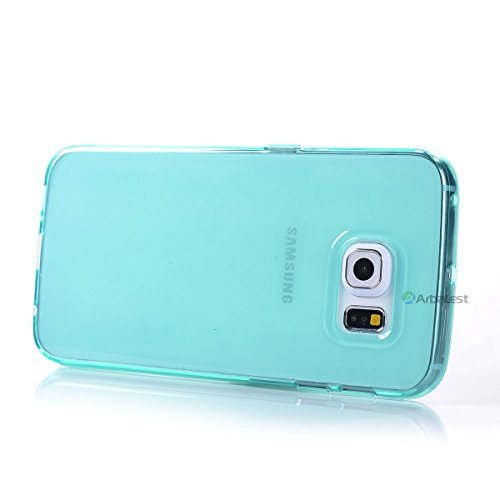 Arbalest® Samsung Galaxy S6 Edge Case, [Jelly Series] [Perfect Fit] Transparent TPU Slim Soft Skin Cover [Shock Absorbent] Gel Case for Samsung S6 Edge - Turquoise, Arbalest Retail Packing