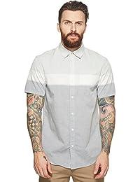 Men's Short Sleeve Stretch Stripe Shirt