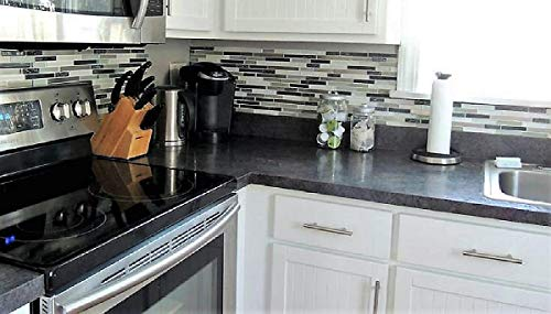 EZ FAUX DECOR Grey Soapstone Marble Look Peel and Stick Countertop Backsplash NO Paint Why? When You can Premium Peel and Stick 144'' x 36'' by EZ FAUX DECOR (Image #7)