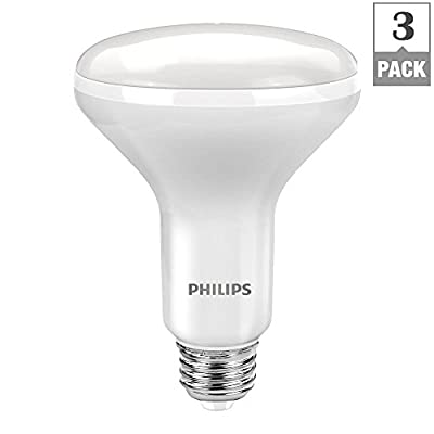 Philips Soft White BR30 Bulb with Warm Glow Effect 65W Replacement (9W LED)