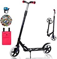Adult Scooter, Scooters for Teens, Boys and Girls, Folding Kick Scooter with Adjustable Height for Four Gears,