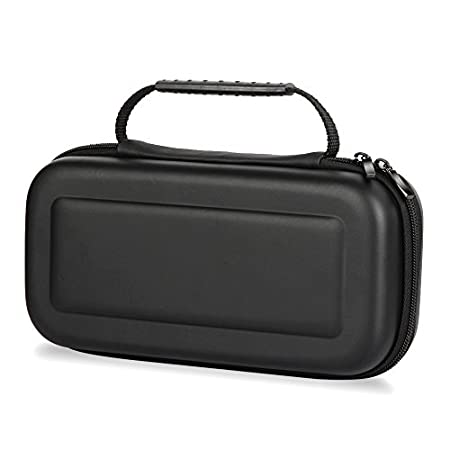 Travel Case for Nintendo Switch, With 8 Card Holders and Carry Handle (Black)