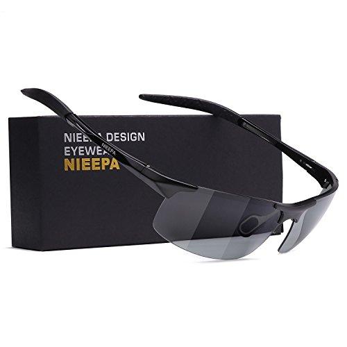 NIEEPA Photochromatic Mens Al-Mg Sports Polarized Sunglasses Driving glasses