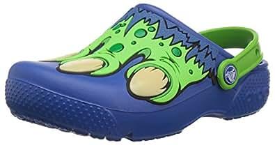 Crocs Unisex Kids Fun Lab Creature Clog K, Blue Jean, 1 M US Little Kid
