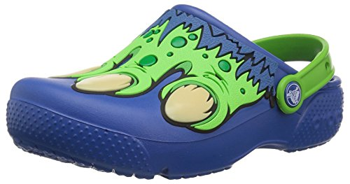 Crocs Kids' Fun Lab Creature Clog, blue jean, 8 M US Toddler