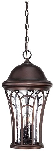 Acclaim 39526ABZ Highgate Collection 3-Light Outdoor Light Fixture Hanging Lantern, Architectural Bronze by Acclaim