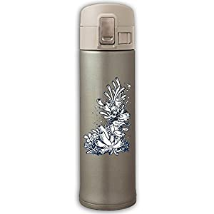 Stainless Steel Mug Sea Coral Bouncing Cover Insulation Vacuum Cup Bottle Thermos Travel Mug Yellow