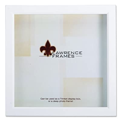 Lawrence Frames 795255 Wood Treasure Shadow Box Picture Frame, 5 X 5 Inch, White - Contemporary Wood shadow Box Frame that will compliment any decor Constructed of Wood with a satin finish; includes high quality black backing Holds your treasured items with 3/4of space inside - picture-frames, bedroom-decor, bedroom - 41ccgOOoq8L. SS400  -