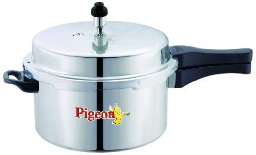 Pigeon Calida Induction Base Aluminium Pressure Cooker with Outer Lid, 3 Litres