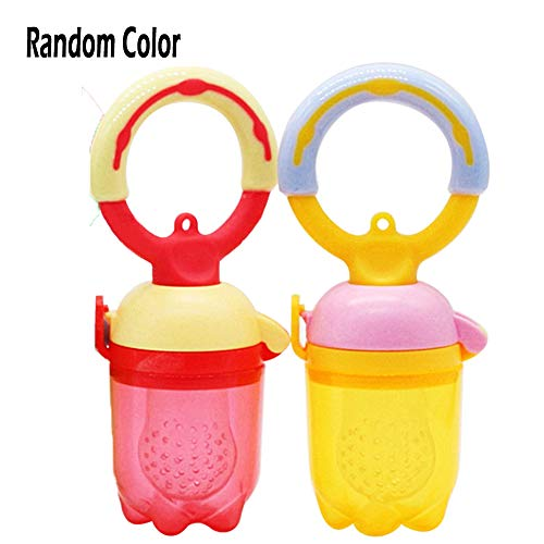 - Sealive 2 Pack Baby Fruit Food Feeders, Soft Silicone Infant Teething Toys Mesh Teether Baby Feeding Supplies for Frozen Foods Fresh Fruits and Vegetables(Random Color)