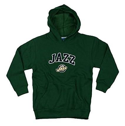 f18cdd9fe1e0d Outerstuff Utah Jazz NBA Basketball Youth Hoodie, Hooded Sweatshirt, Green  (Large (10-12))