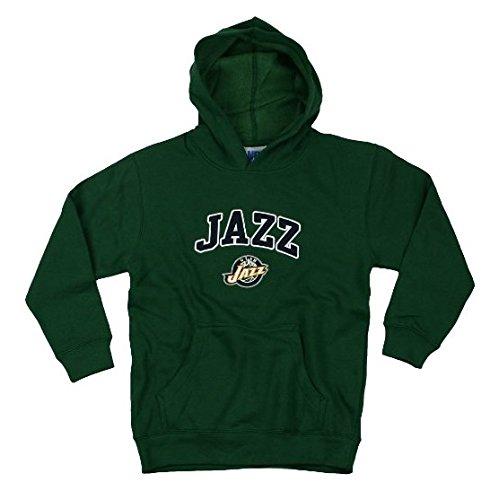Utah Jazz NBA basketball Youth, felpa con cappuccio, verde Large (10–�?2) -