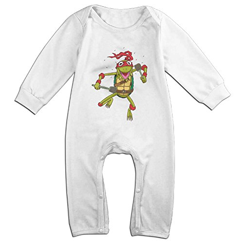 Jim Facebook Costume (Raymond Teenage Muppet Ninja Long Sleeve Baby Climbing Clothes White 18 Months)