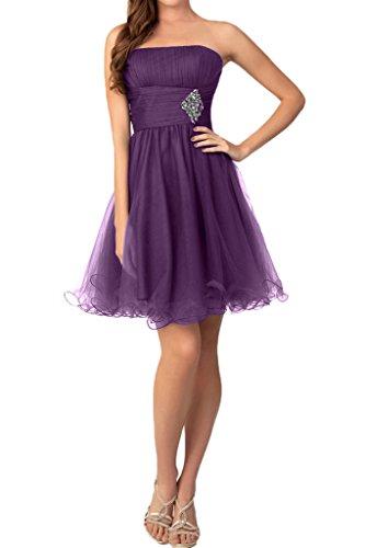 Missdressy - Vestido - plisado - para mujer morado