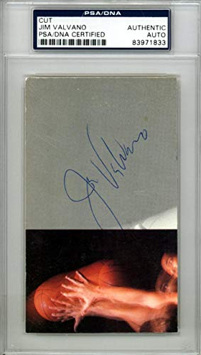 Jim Valvano Autographed 3x5 Cut Signature N.C. State Wolfpack #83971833 PSA/DNA Certified College Cut Signatures