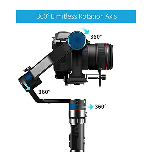 FeiyuTech Feiyu AK2000 DSLR Camera Gimbal 3-Axis Handheld Stabilizer with Tripod for Panasonic GH5 GH5S Sony A7 Canon 5D… 2