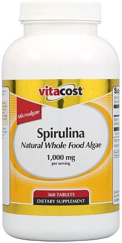 Vitacost Spirulina Natural Whole serving