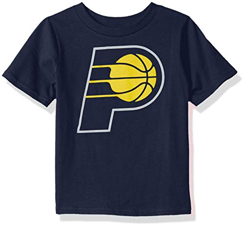 (Outerstuff NBA NBA Kids & Youth Boys Indiana Pacers Primary Logo Short Sleeve Basic Tee, Navy, Youth Medium(10-12))