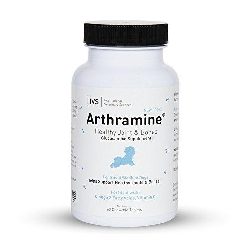 Arthramine Tablets Healthy Joints and Bones Supplement for Small / Medium Dogs, 60 count