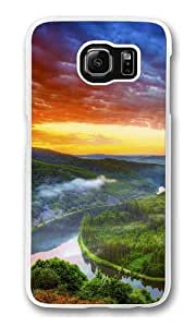 Amazon river Polycarbonate Hard Case Cover for Samsung S6/Samsung Galaxy S6 Transparent