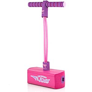 My First Flybar Foam Pogo Jumper For Kids Fun and Safe Pogo Stick For Toddlers, Durable Foam and Bungee Jumper For Ages 3 and up, Supports up To 250lbs (Pink)