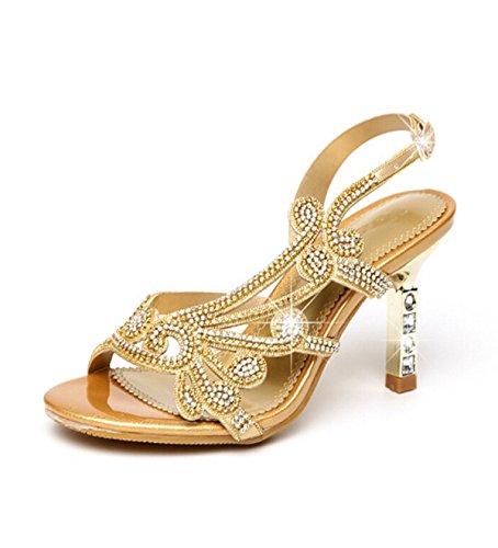 Punta De Diamante Sandalias Atractivas Gold